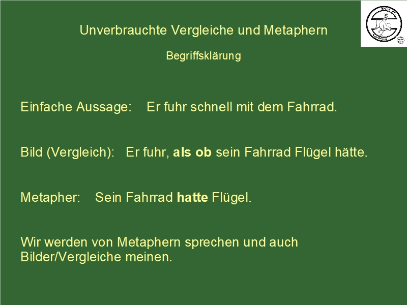 Definition Metapher Vergleich