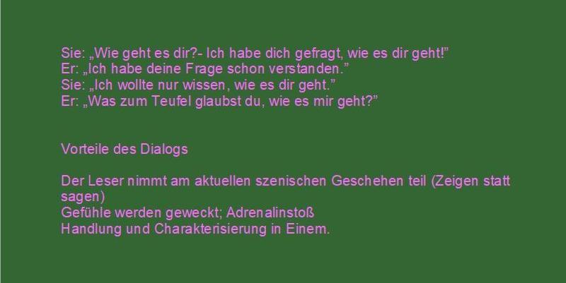 Dialog schreiben